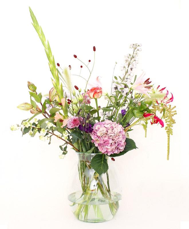 Bloemen abonnement groot boeket