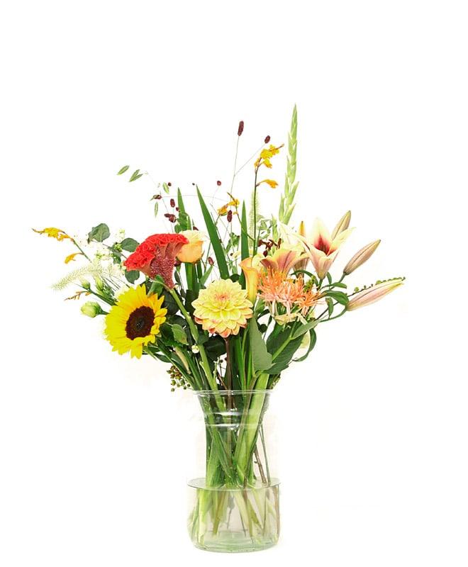 Bloemen abonnement middel boeket
